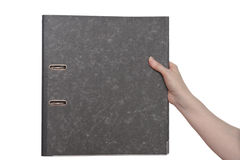 Hand and file Royalty Free Stock Photo