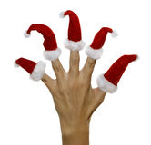 Hand with finger hats Stock Images