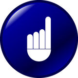 Hand with finger pointing up vector button Stock Photography