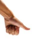 Hand finger printing Stock Image