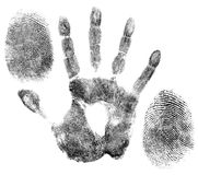 Hand and finger prints for identification Royalty Free Stock Photos