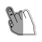 Hand with finger touching something. Icon  illustration graphic Stock Images