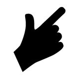 Hand with finger touching something. Icon  illustration graphic design Royalty Free Stock Photos