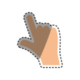 Hand with finger touching something. Icon  illustration graphic design Stock Image