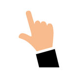 Hand with finger touching something. Icon  illustration graphic design Stock Photo
