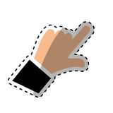 Hand with finger touching something. Icon  illustration graphic design Royalty Free Stock Image