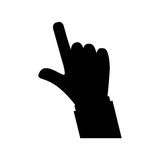 Hand with finger touching something. Icon  illustration graphic design Royalty Free Stock Photography