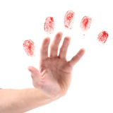 Hand and fingerprints stock image