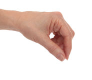Hand Fingers Placing Royalty Free Stock Photo