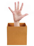 Hand with fingers spread Stock Image