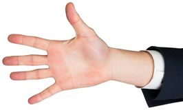 Hand with fingers spread out Royalty Free Stock Photography