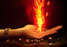 Hand on Fire Royalty Free Stock Photos