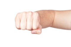 Hand, fist, elbow. Royalty Free Stock Images