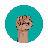 Hand fist. Icon in Stock Photo