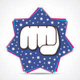 Hand fist on star background Royalty Free Stock Photos