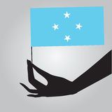 Hand with flag Micronesia Stock Photography