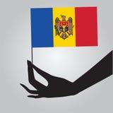 Hand with flag Moldova Royalty Free Stock Photography