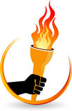 Hand flame logo Royalty Free Stock Photography