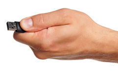 Hand with flash drive Stock Image