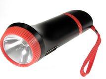 Hand flashlight. Over white background Stock Image