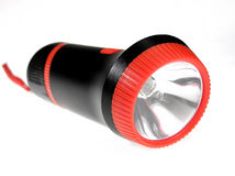 Hand flashlight. Over white background Royalty Free Stock Image
