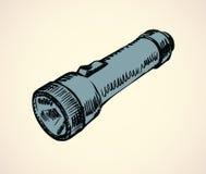 Hand flashlight. Vector drawing Royalty Free Stock Photo