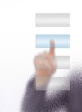 The hand on the flow of several Stock Photography