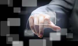 The hand on the flow of several Stock Images