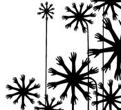 Hand flowers, vector. Composition with flowers made from hands stock illustration