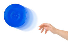 Hand and flying disc Stock Photography