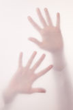 Hand in a fog Royalty Free Stock Images
