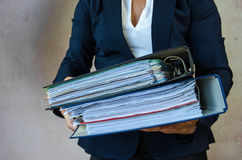 Hand with folders Stock Image