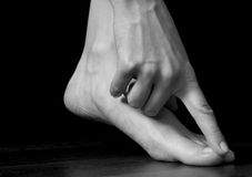Hand and foot Royalty Free Stock Images