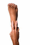 Hand and foot Stock Image