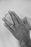 Hand and foot Royalty Free Stock Photography