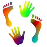 Hand and foot print Royalty Free Stock Photo