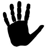 Hand footprint Royalty Free Stock Photos
