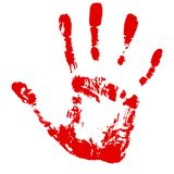 Hand footprint Stock Image
