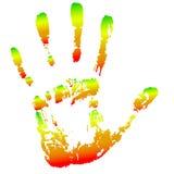 Hand footprint Royalty Free Stock Photo