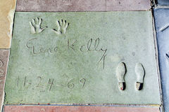 Hand- and Footprints of Gene Kelly in front of the TCL Chinese Theatre Royalty Free Stock Photos