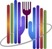Hand fork logo Stock Photography