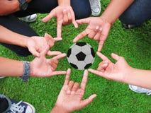 Hand fotboll royaltyfria bilder