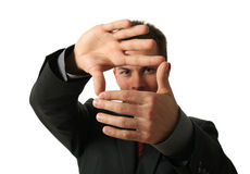 Hand Frame Stock Photo
