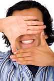 Hand framing a smile Stock Photos