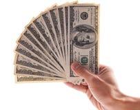 Hand Full of Bills. Hand Full of Hundred Dollar Bills Stock Photo