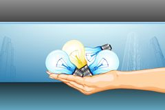 Hand full of Ideas royalty free illustration