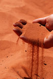 hand full of sand Royalty Free Stock Photography
