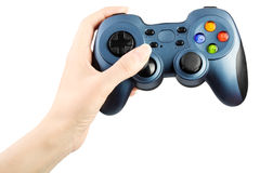 Hand with gamepad Stock Photography