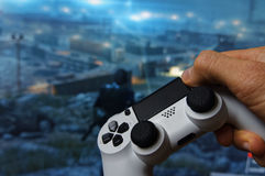 Hand with Gamepad 3 Stock Photo
