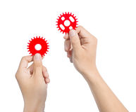 Hand gear Royalty Free Stock Photography